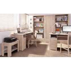 GRESS B1D1S/120 íróasztal, 115*67*76 cm - sonoma