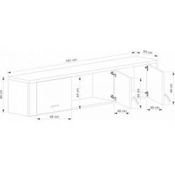 GRESS NSZ3D szekrény rátét, 161*55*48 cm - sonoma
