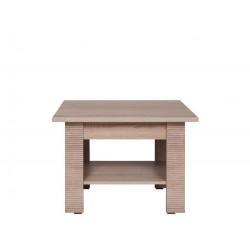 GRESS L75 dohányzóasztal, 75*75*50 cm - sonoma