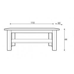MALTA L110 dohányzóasztal, 110*60*44 cm