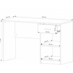 TIPS B1S íróasztal, 120*54*77 cm - sonoma