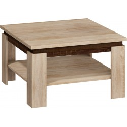 ALFA dohányzóasztal, 80*80*48 cm - sonoma világos/sonoma sötét