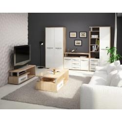 Angel 6. nappali összeállítás - sonoma világos/fényes fehér