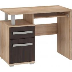 ANGEL ANG-02 íróasztal, 100*53*77 cm - világos sonoma/sötét sonoma