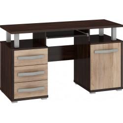 ANGEL ANG-03 íróasztal, 135*58*77 cm - sötét sonoma/világos sonoma