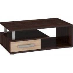 ANGEL ANG-07 dohányzóasztal, 118*74*43 cm - sötét sonoma/világos sonoma