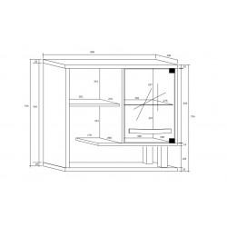 ANGEL ANG-14 fali szekrény, 80*33*60 cm - világos sonoma/sötét sonoma