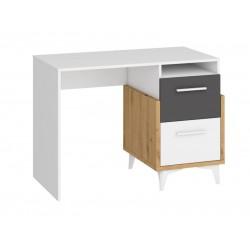 HEY HEY-03 íróasztal, 105*57*76 cm - Artisan tölgy/fehér/grafit