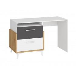 HEY HEY-04 íróasztal, 125*57*76 cm - Artisan tölgy/fehér/grafit