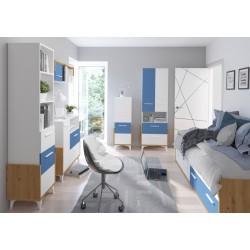 Hey Szett 3 gyerekbútor - Artisan tölgy/fehér/kék