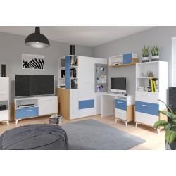 Hey Szett 4 gyerekbútor - Artisan tölgy/fehér/kék