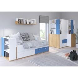 HEY Szett 5 gyerekbútor - Artisan tölgy/fehér/kék