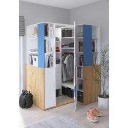 HEY Szett 6 gyerekbútor - Artisan tölgy/fehér/kék