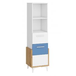 HEY Szett 2 gyerekbútor - Artisan tölgy/fehér/kék