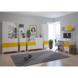 HEY Szett 2 gyerekbútor - Artisan tölgy/fehér/sárga