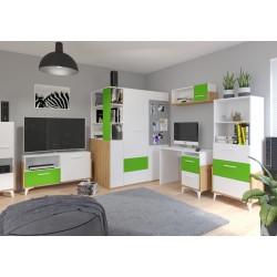 Hey Szett 4 gyerekbútor - Artisan tölgy/fehér/zöld