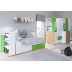HEY Szett 5 gyerekbútor - Artisan tölgy/fehér/zöld