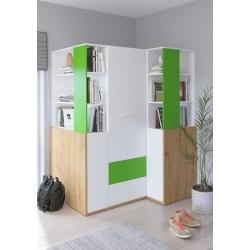 HEY Szett 6 gyerekbútor - Artisan tölgy/fehér/zöld