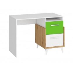 HEY HEY-03 íróasztal, 105*57*76 cm - Artisan tölgy/fehér/zöld