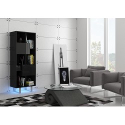 KING KIN-07 polcos szekrény, 60*36*165 cm - fekete