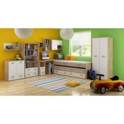 Kitty Szett 1 gyerekbútor - világos sonoma/fehér
