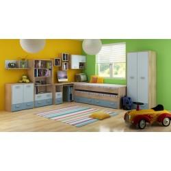 Kitty Szett 1 gyerekbútor - világos sonoma/kék