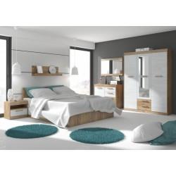 MAXIMUS Szett 12 hálószoba - craft arany/craft fehér