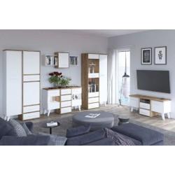 Nordis 5. nappali bútor - craft arany/fehér