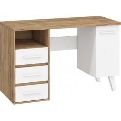 NORDIS NOR-01 íróasztal, 125*57*79 cm - craft arany/fehér