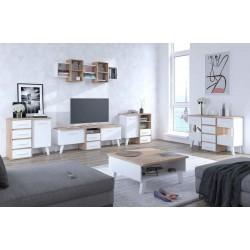 Nordis 4. nappali bútor - világos sonoma/fehér