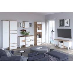 Nordis 5. nappali bútor - világos sonoma/fehér
