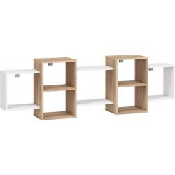 Nordis 2. nappali bútor - világos sonoma/fehér
