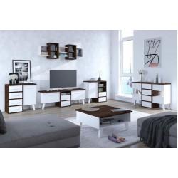 Nordis 4. nappali bútor - sötét sonoma/fehér