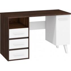 NORDIS NOR-01 íróasztal, 125*57*79 cm - sötét sonoma/fehér