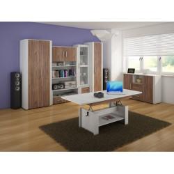 Notti 2. nappali bútor - craft fehér/craft tobaco