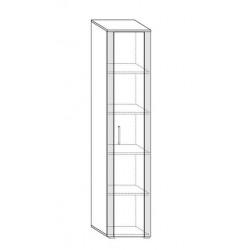 NOTTI NOT-01 1 ajtós polcos szekrény, 50*56*205 cm - világos sonoma/sötét sonoma