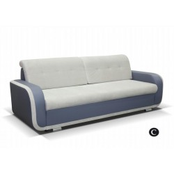 AZJA C. kanapé, 229*97*90 cm - szürke/bézs