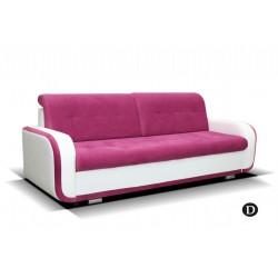 AZJA D. kanapé, 229*97*90 cm - fehér/pink
