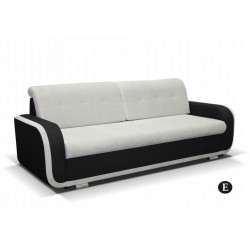 AZJA E. kanapé, 229*97*90 cm - fekete/bézs