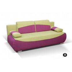 BOBI B. kanapé, 210*90*74 cm - zöld/lila