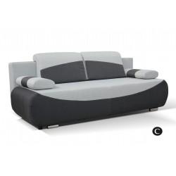 BOBI C. kanapé, 210*90*74 cm - sötét szürke/világos szürke