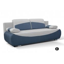 BOBI E. kanapé, 210*90*74 cm - kék/szürke