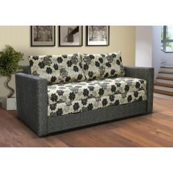 LEO 1. kanapé, 182*106*90 cm - szürke/szürke virágos