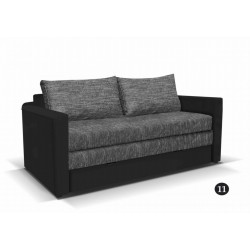 LEO 11. kanapé, 182*106*90 cm - fekete/szürke