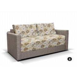 LEO 4. kanapé, 182*106*90 cm - drapp/drapp virágos