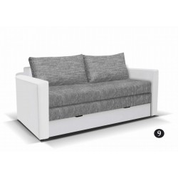 LEO 9. kanapé, 182*106*90 cm - fehér/szürke
