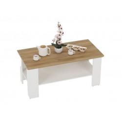 MEZO MZ17 dohányzóasztal, 120*60*55 cm - alpesi fehér/grand tölgy