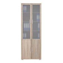 OFFICE LINE REG2W2D/79/220 vitrines szekrény, 79*35*221 cm