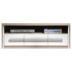 ROMA ROM4 TV szekrény, 120*53*44 cm - fehér/szürke/szilfa