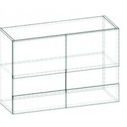 LIVIA LV-01 fali szekrény, 80*30*57,5 cm - világos sonoma